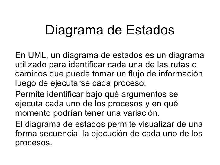 Diagrama de Estados En UML, un diagrama de estados es un diagrama utilizado para identificar cada una de las rutas o camin...