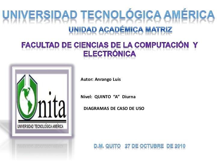 UNIVERSIDAD TECNOLÓGICA AMÉRICA<br />UNIDAD ACADÉMICA MATRIZ<br />FACULTAD DE CIENCIAS DE LA COMPUTACIÓN  Y ELECTRÓNICA<br...