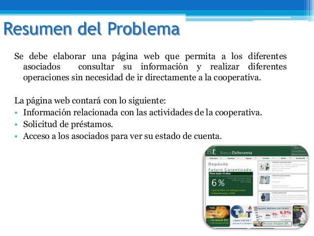 Se debe elaborar una página web que permita a los diferentesasociados consultar su información y realizar diferentesoperac...