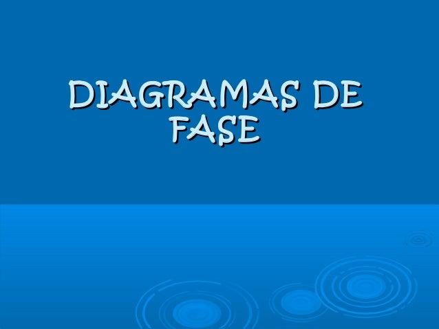 DIAGRAMAS DEDIAGRAMAS DE FASEFASE