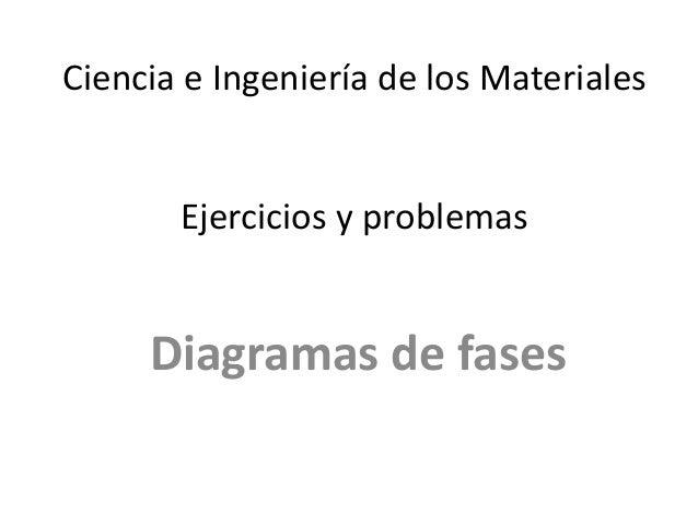 Ciencia e Ingeniería de los Materiales Ejercicios y problemas Diagramas de fases