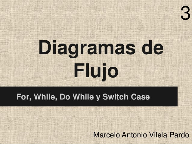 3 Diagramas de Flujo For, While, Do While y Switch Case  Marcelo Antonio Vilela Pardo