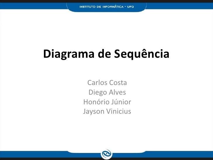 Diagrama de Sequência<br />Carlos Costa<br />Diego Alves<br />Honório Júnior <br />Jayson Vinicius<br />