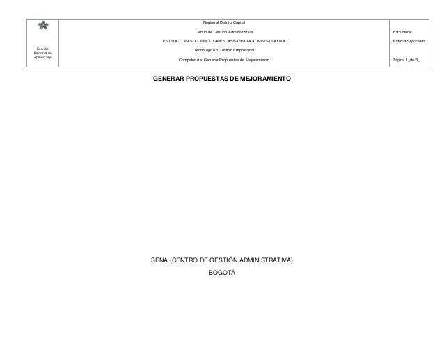 Servicio Nacional de Aprendizaje Regional Distrito Capital Centro de Gestión Administrativa ESTRUCTURAS CURRICULARES ASIST...