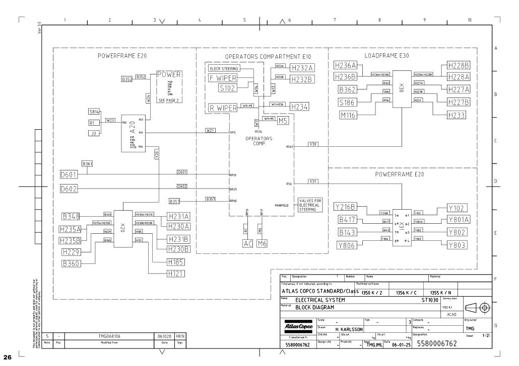 atlas copco 1600 wiring diagram circuit diagram symbols u2022 rh blogospheree com Atlas Copco Rock Drills Atlas Copco GA 45 Compressor