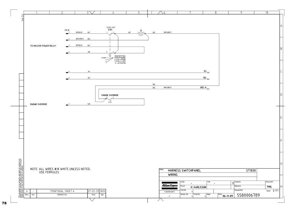 diagramas hidraulicos scoop 1030 rh slideshare net Atlas Copco GA 45 Compressor Atlas Copco GA 45 Compressor