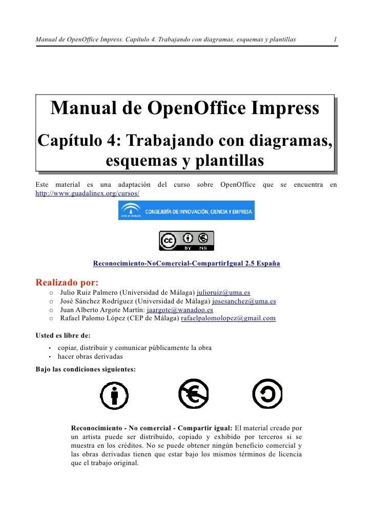 Manual de OpenOffice Impress. Capítulo 4. Trabajando con diagramas, esquemas y plantillas   1    Manual de OpenOffice Impr...