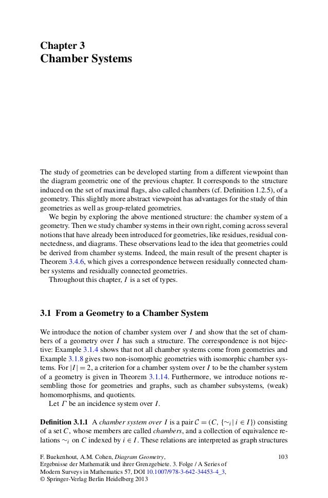 Chapter 3Chamber SystemsThe study of geometries can be developed starting from a different viewpoint thanthe diagram geome...