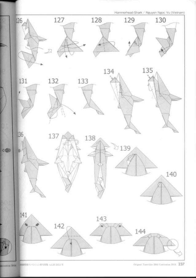 origami hammerhead shark instructions