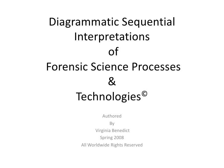 Diagrammatic Sequential Interpretations of Forensic Science Processes&Technologies©<br />Authored<br />By<br /> Virginia B...