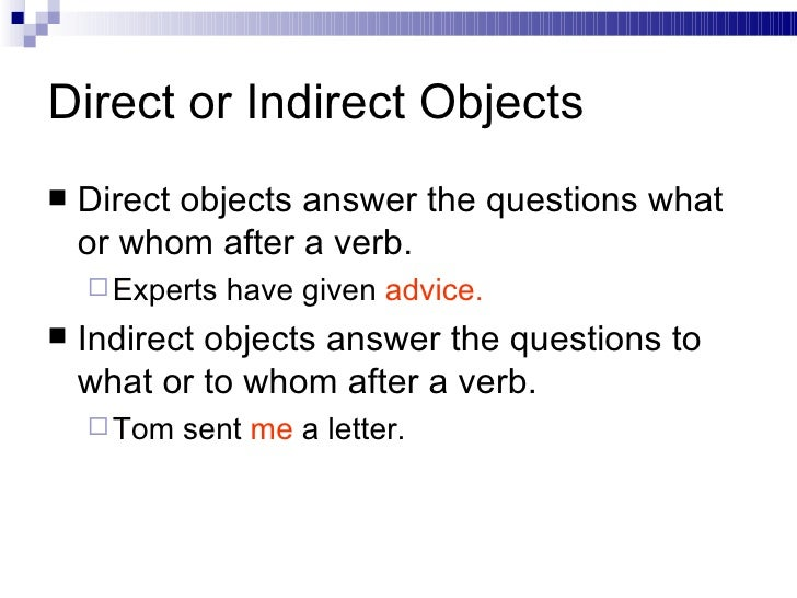 direct and indirect letter