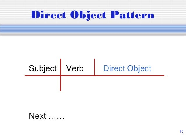 Diagramming sentences subject verb direct object next 13 direct object pattern ccuart Images