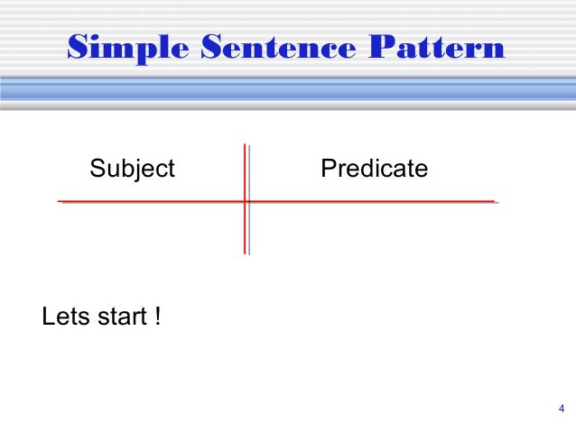 Diagramming sentences 4 simple sentence pattern ccuart Choice Image