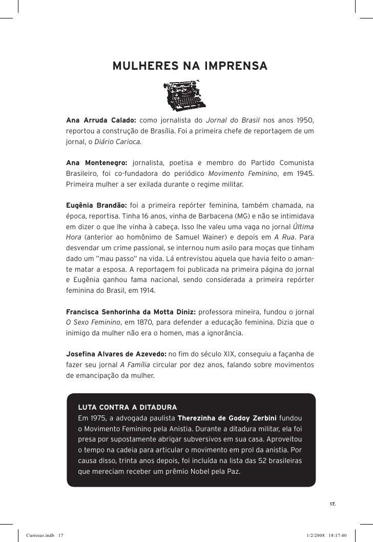 MuLHErES NA IMPrENSA                       Ana Arruda Calado: como jornalista do Jornal do Brasil nos anos 1950,          ...