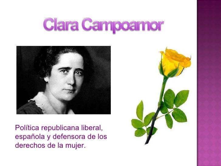 Política republicana liberal, española y defensora de los derechos de la mujer.