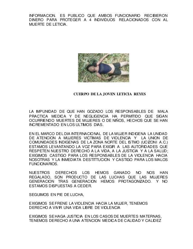 INFORMACION. ES PUBLICO QUE AMBOS FUNCIONARIO RECIBIERON DINERO PARA PROTEGER A 4 INDIVIDUOS RELACIONADOS CON AL MUERTE DE...