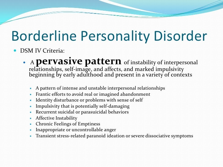 borderline personality online dating Advice – dating someone with borderline personality disorder (bpd) november 4, 2013 by daniela e schreier dating a person with bpd is not part of your deal.