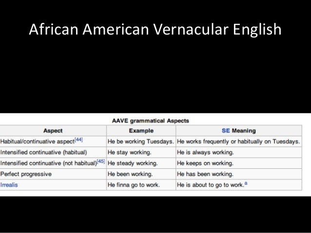 ebonics vs standard english While the media framed the issue as black english vs white america, the ebonics controversy to learn standard english is to use ebonics as a.