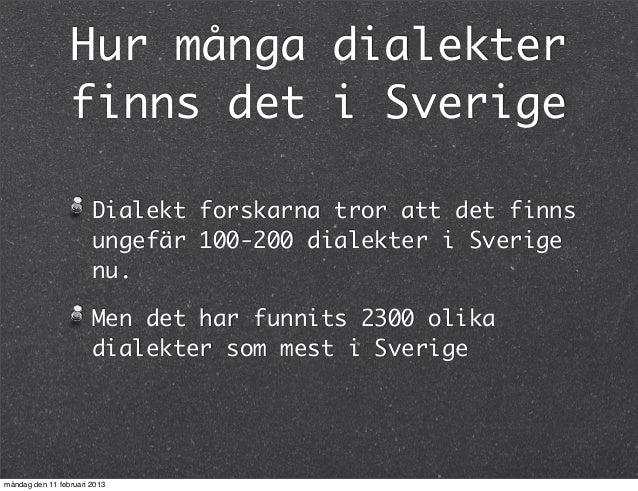 sveriges dialekter
