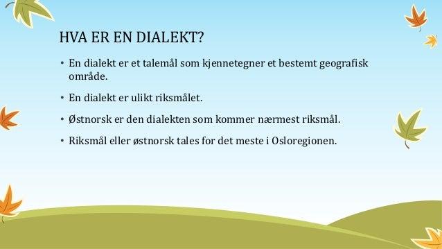 dialekter i norge Tønsberg