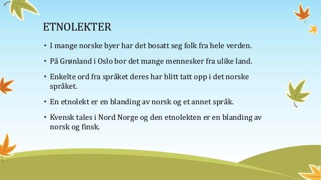dialekter i norge Jørpeland