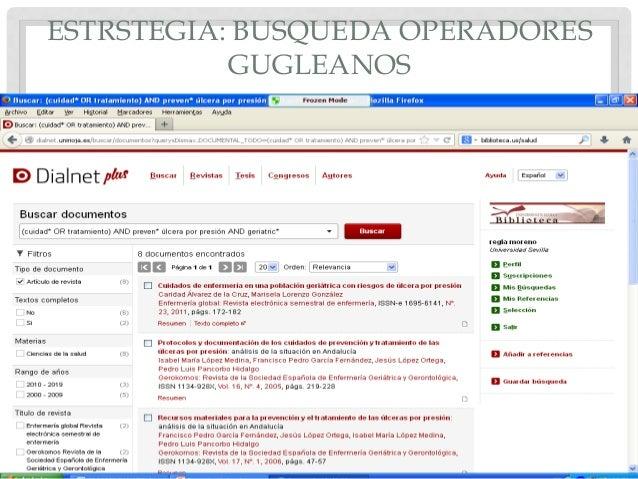 ESTRSTEGIA: BUSQUEDA OPERADORES GUGLEANOS