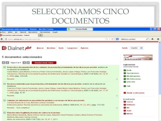 SELECCIONAMOS CINCO DOCUMENTOS