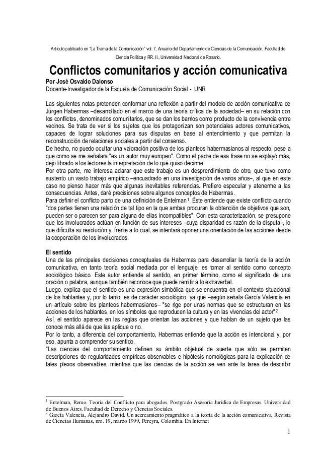 """Artículo publicado en """"La Trama de la Comunicación"""" vol. 7, Anuario del Departamento de Ciencias de la Comunicación, Facul..."""