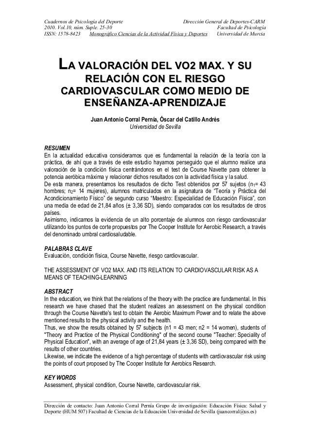 Cuadernos de Psicología del Deporte Dirección General de Deportes-CARM 2010. Vol.10, núm. Suple. 25-30 Facultad de Psicolo...
