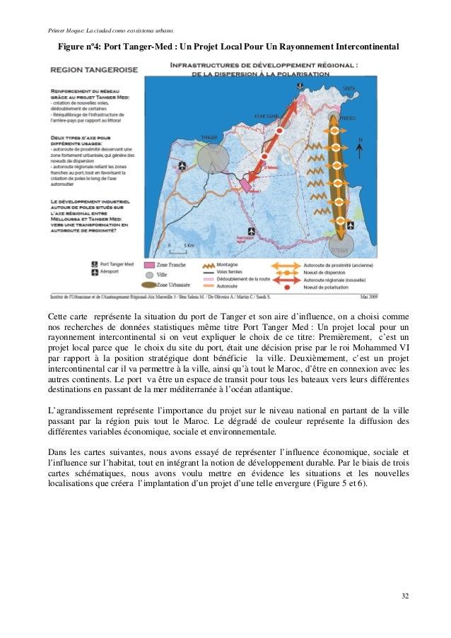 Primer bloque: La ciudad como ecosistema urbano. Figure nº4: Port Tanger-Med : Un Projet Local Pour Un Rayonnement Interco...