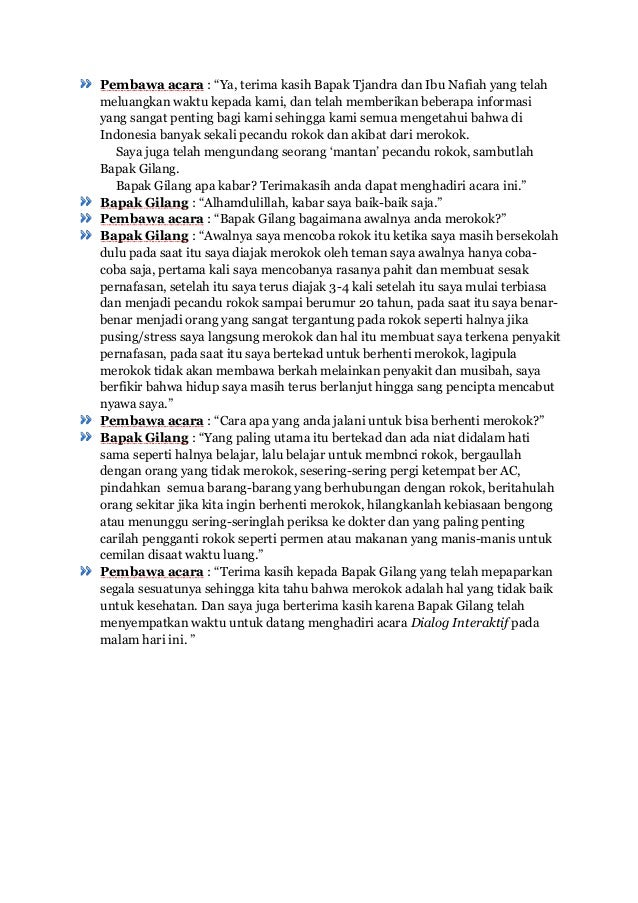 Contoh Teks Dialog Interaktif