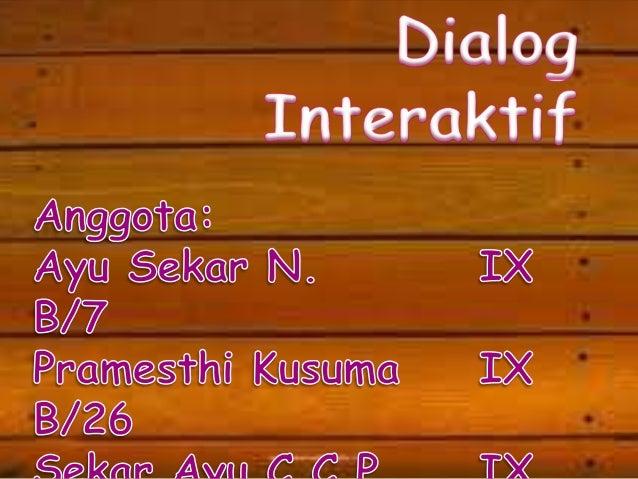Contoh Teks Dialog Interaktif Nagoros
