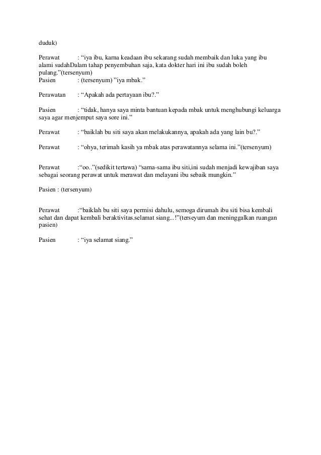 Dialog Komunikasi Terapeutik Perawat Danpasien