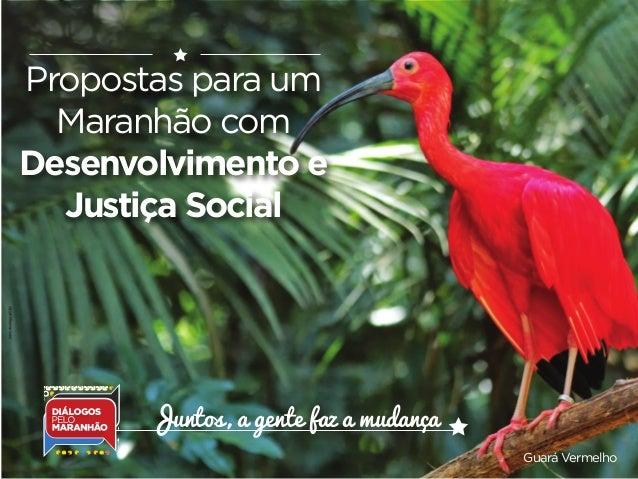 Propostas para um Maranhão com Desenvolvimento e Justiça Social Guará Vermelho Juntos, a gente faz a mudança
