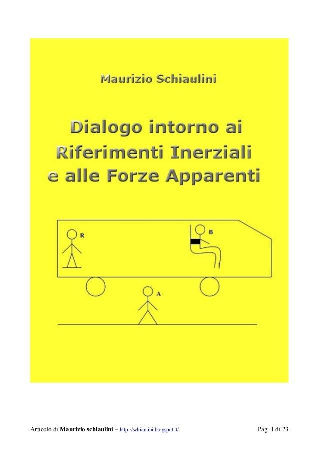 Disco A Cuscino D Aria.Dialogo Su Riferimenti Inerziali E Forze Fittizie V5 0 2
