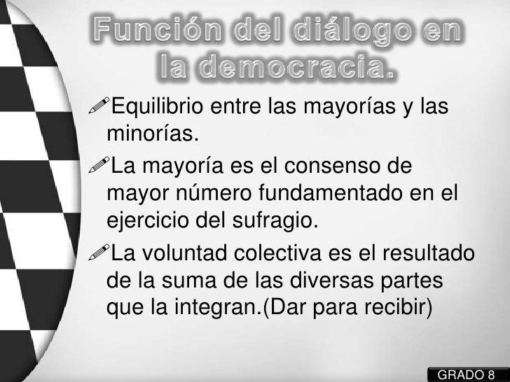 DIÁLOGO Y DEMOCRACIA Slide 3