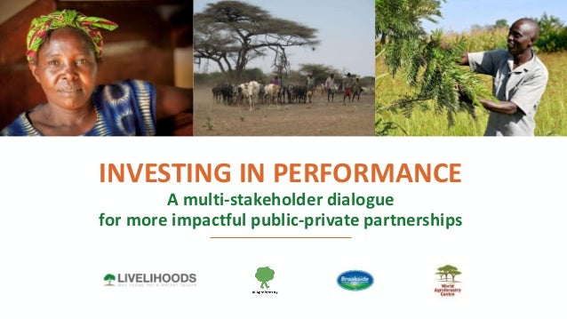 P1 INVESTING IN PERFORMANCE A multi-stakeholder dialogue for more impactful public-private partnerships