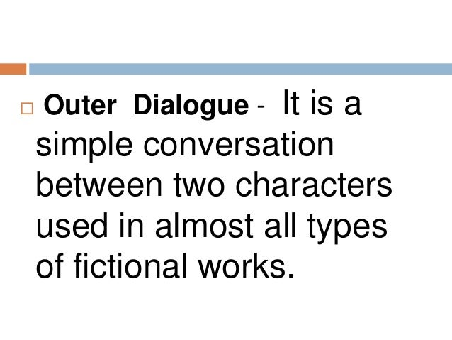 Dialogue between two characters.