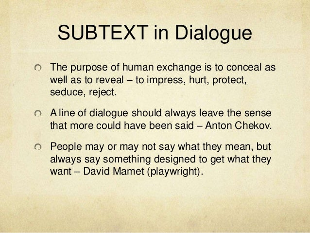 writing dialogue presentation Functionally it's as easy as creating a powerpoint or keynote presentation, but there are a few new things that you need to consider –.