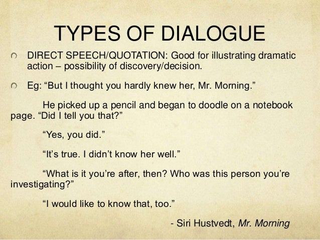 How to Format Dialogue in a Story