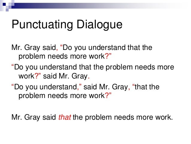 Dialoguepunctuation – Punctuating Dialogue Worksheet