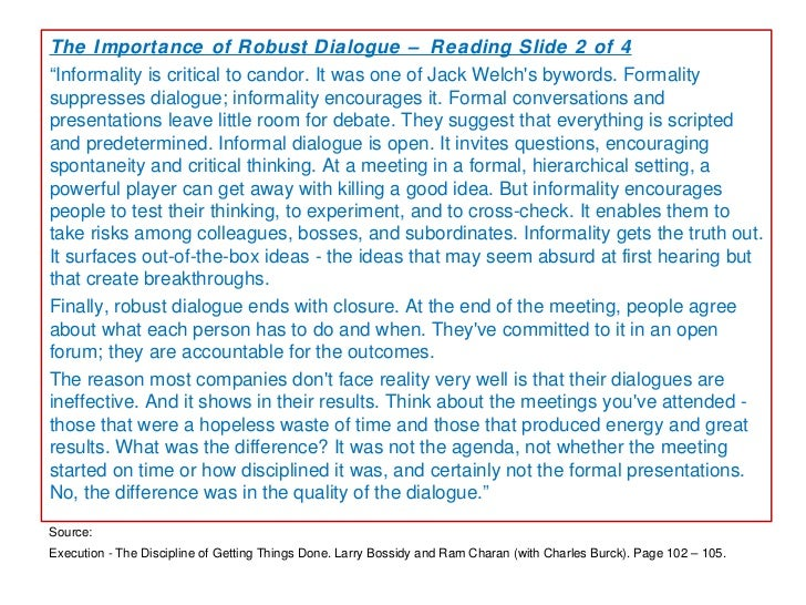Organizational dialogue
