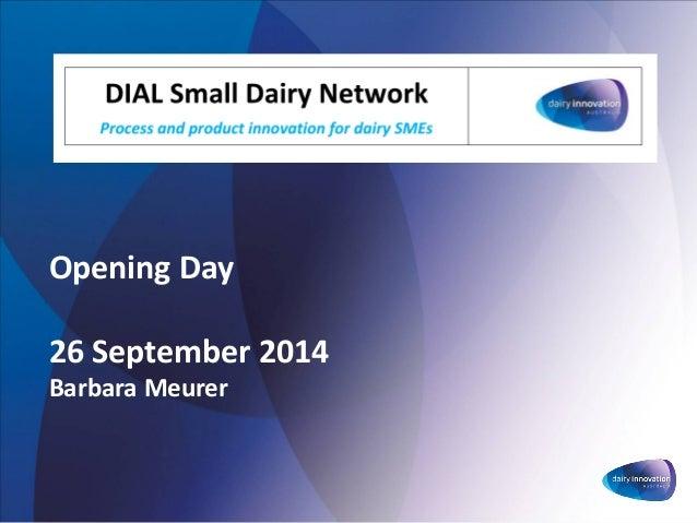 Opening Day26 September 2014Barbara Meurer
