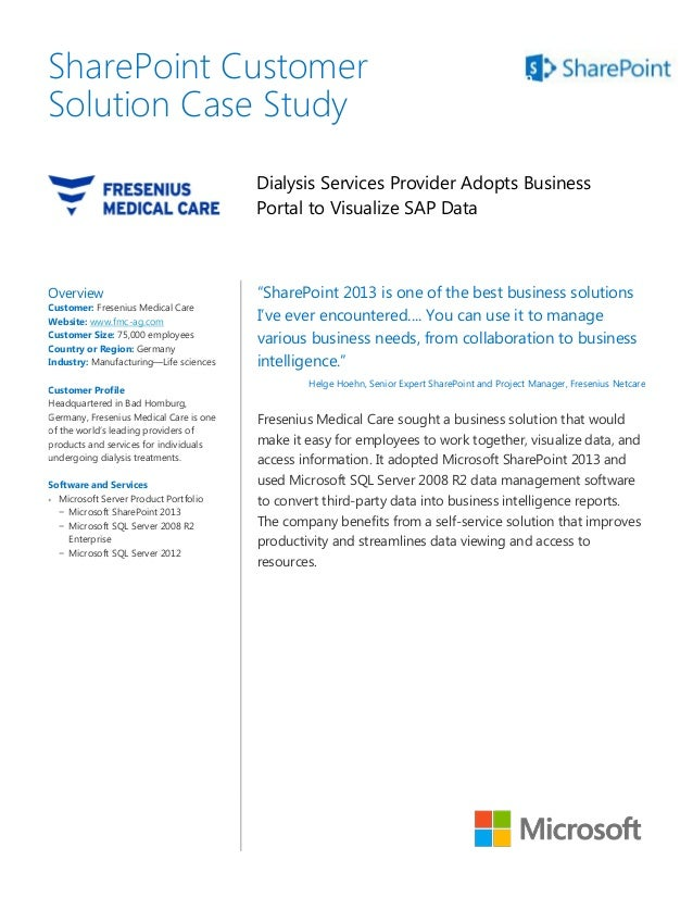 SharePoint Customer                                                                    SolutionSolution Case Study        ...