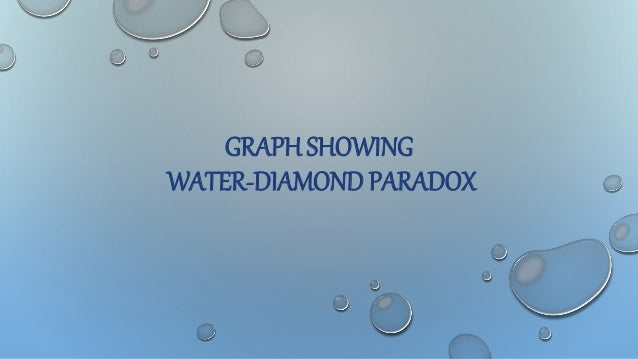 what is diamond water paradox