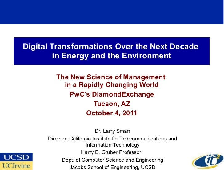Digital Transformations Over the Next Decade  in Energy and the Environment The New Science of Management  in a Rapidly Ch...