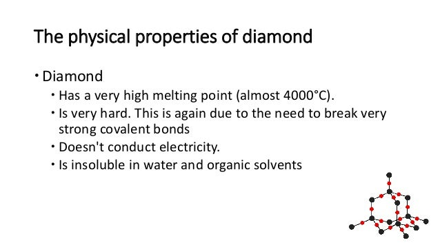 Physical Properties Of A Diamond