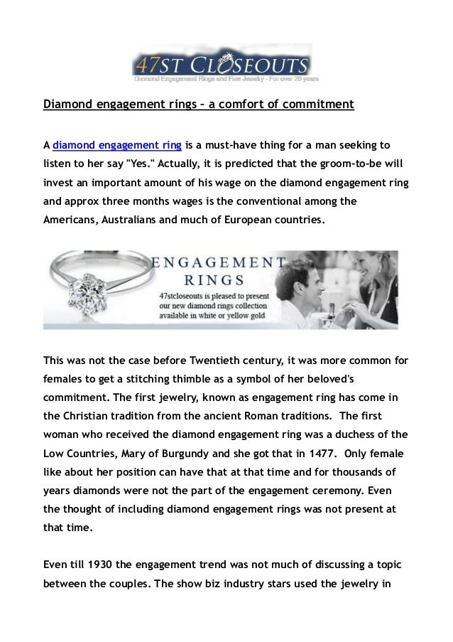 Diamond engagement rings – a comfort of commitmentA diamond engagement ring is a must-have thing for a man seeking toliste...