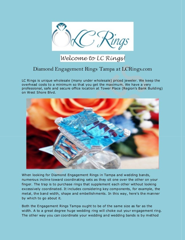diamond engagement rings tampa at lcringscom lc rings is - Wedding Ringscom
