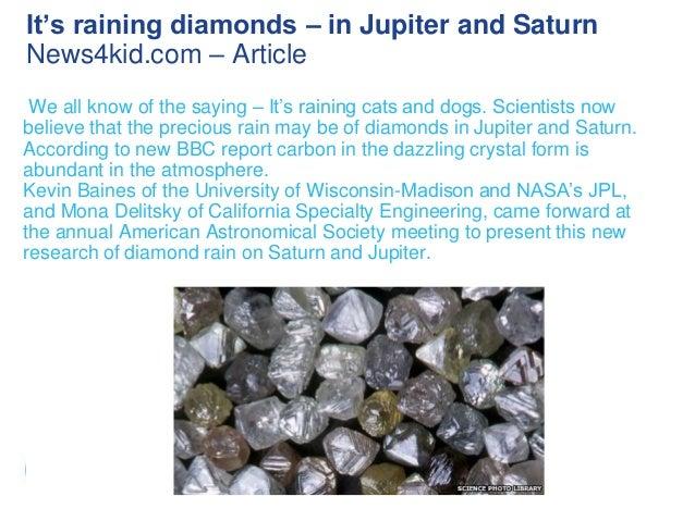 It S Raining Diamonds In Jupiter And Saturn Www News4kid Com